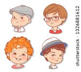 set with boy's faces. userpics... | Shutterstock .eps vector #1326881612