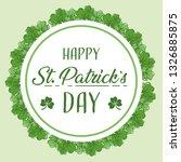 happy st patricks day | Shutterstock .eps vector #1326885875