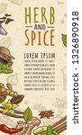 poster with pepper  cinnamon ...   Shutterstock .eps vector #1326890918