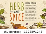 poster with pepper  cinnamon ...   Shutterstock .eps vector #1326891248