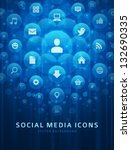 social media icons and light... | Shutterstock .eps vector #132690335