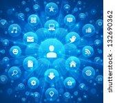 social media icons and light... | Shutterstock .eps vector #132690362
