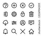 set of basic interface icons...