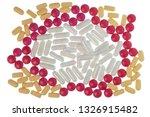 horizontal shot of red  white ... | Shutterstock . vector #1326915482