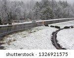 horizontal shot of a snowy... | Shutterstock . vector #1326921575