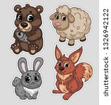 a set of stickers with the... | Shutterstock .eps vector #1326942122