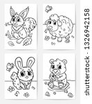 set coloring pages. vector... | Shutterstock .eps vector #1326942158