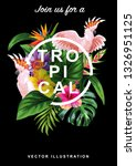 tropical hawaiian sale poster... | Shutterstock .eps vector #1326951125