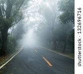 road covered in fog | Shutterstock . vector #132696716