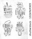 set of bakery letterings my...   Shutterstock .eps vector #1326969305