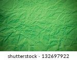 crushed green paper texture | Shutterstock . vector #132697922
