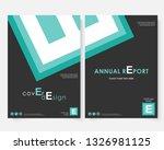 green square annual report... | Shutterstock . vector #1326981125