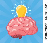 brain idea creativity | Shutterstock .eps vector #1327018535