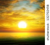 sun rise over the sea | Shutterstock . vector #132702458