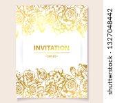 vintage delicate greeting...   Shutterstock .eps vector #1327048442