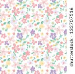 spring summer pastels tiny... | Shutterstock .eps vector #132707516