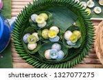 kind of thai sweetmeat .... | Shutterstock . vector #1327077275