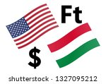 usdhuf forex currency pair... | Shutterstock .eps vector #1327095212