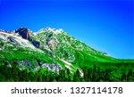 mountain peak landscape.... | Shutterstock . vector #1327114178