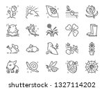 spring line icon set. included... | Shutterstock .eps vector #1327114202