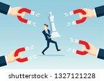 attracting leader concept | Shutterstock .eps vector #1327121228