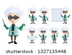 scientist character vector set. ... | Shutterstock .eps vector #1327135448