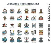 lifeguard and emergency service ... | Shutterstock .eps vector #1327166432