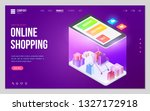 design website or landing page...   Shutterstock .eps vector #1327172918