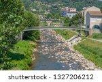 scenery around vals les bains ... | Shutterstock . vector #1327206212