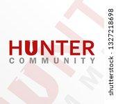 hunter logo design  hunter...   Shutterstock .eps vector #1327218698