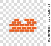 brick wall flat vector icon in...