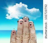 finger family travels at the... | Shutterstock . vector #132723752