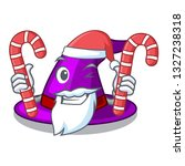 santa with candy witch hats in... | Shutterstock .eps vector #1327238318