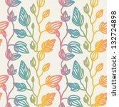 flower vector pattern | Shutterstock .eps vector #132724898