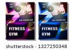 fitness gym poster  cover....   Shutterstock .eps vector #1327250348
