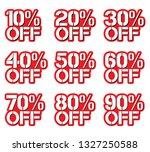 sale tags set vector badges...   Shutterstock .eps vector #1327250588