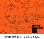 orange flower background | Shutterstock .eps vector #132725522