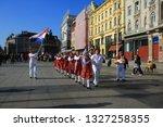 zagreb  croatia  10 february... | Shutterstock . vector #1327258355