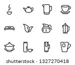 set of black vector icons ... | Shutterstock .eps vector #1327270418