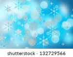 christmas snowflakes background | Shutterstock . vector #132729566