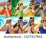 creative conceptual vector set. ... | Shutterstock .eps vector #1327317842