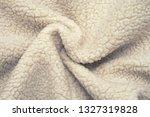 white fleece fur texture. sheep ... | Shutterstock . vector #1327319828
