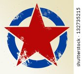 red star in circle | Shutterstock .eps vector #132735215