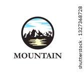mountain logo design   Shutterstock .eps vector #1327368728