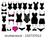 vector set of lingerie