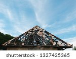 neglected roof with some roof...   Shutterstock . vector #1327425365