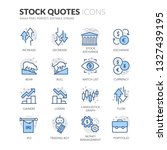 simple set of stock quotes... | Shutterstock .eps vector #1327439195