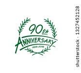 90 years design template.... | Shutterstock .eps vector #1327452128