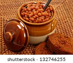 Baked Beans And Brown Bread On...