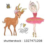 hand drawn beautiful cute... | Shutterstock .eps vector #1327471208